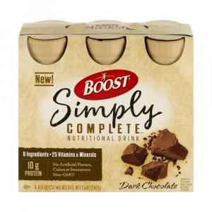 Boost Simply Complete Dark Chocolate Drink