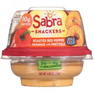 Sabra Red Pepper Hummus With Pretzels