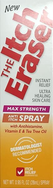 The Itch Eraser Max Strength Anti Itch Spray