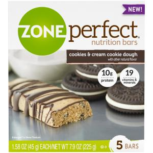 Zoneperfect Cookies & Cream Cookie Dough Bars