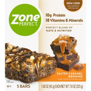 Zone Perfect Salted Caramel Brownie Nutritional Bars