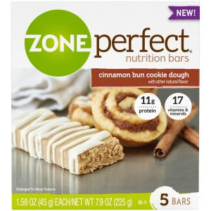Zone Perfect Cinnamon Bun Cookie Dough Nutrition Bars