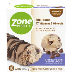 Zone Perfect Chocolate Chip Cookie Dough Bars