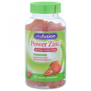 Vitafusion Power Zinc Dietary Supplement Adult Gummies
