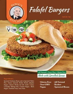 Papou's Kitchen Falafel Burgers