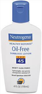 Neutrogena Healthy Defense Oil Free Lotion Spf 45