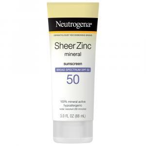 Neutrogena Sheer Zinc Lotion Spf 50