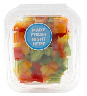 Diced Rainbow Pepper Mix Veggie Pack