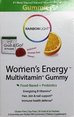 Rainbow Light Women's Energy Multivitamin Gummy