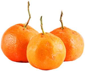 California Satsuma Mandarins W/stem & Leaf
