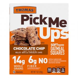 Thomas' Pick Me Ups Chocolate Chip Oatmeal Squares