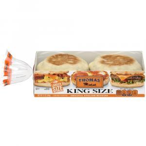 Thomas' Plain King Size English Muffins