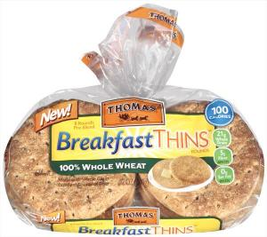 Thomas' 100% Whole Wheat Breakfast Thins Rounds