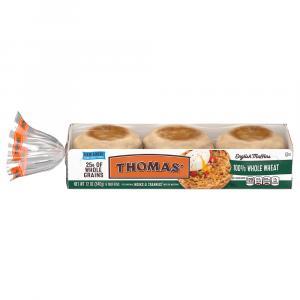 Thomas' 100% Whole Wheat English Muffins