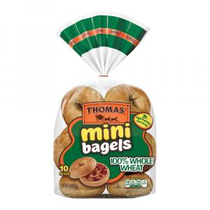 Thomas' 100% Whole Wheat Mini Bagels