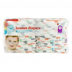 Honest Diapers Multi-colored Giraffes Size 2
