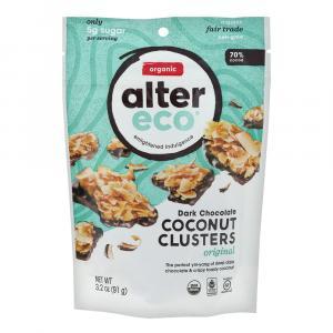 Alter Eco Organic Dark Chocolate Coconut Clusters