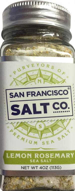 San Francisco Salt Co. Lemon Rosemary Sea Salt Shaker