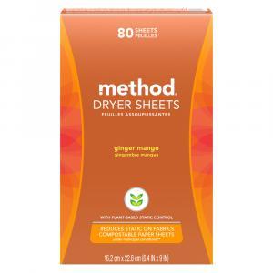 Method Dryer Sheets Ginger Mango
