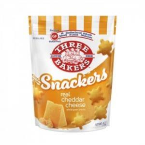 Three Bakers Gluten Free Real Cheddar Cheese Snackers