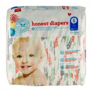 Honest Diapers Multi-colored Giraffes Size 6