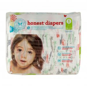 Honest Diapers Multi-colored Giraffes Size 5