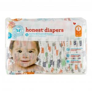 Honest Diapers Multi-colored Giraffes Size 3