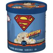 Superman Krypton Cookie Dough Light Ice Cream
