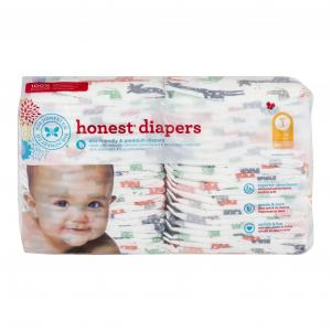 Honest Diapers Multi-colored Giraffes Size 1