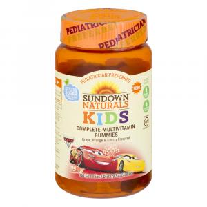 Sundown Naturals Kids Cars 3 MultiVitamins