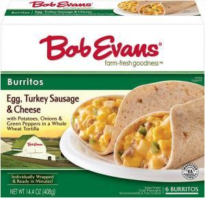 Bob Evans Turkey Sausage, Egg & Cheese Burritos
