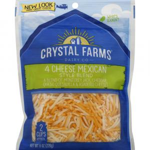 Crystal Farms Shredded Four Cheese Mexican Blend