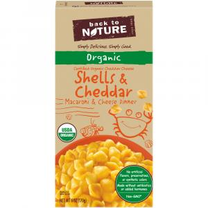 Back to Nature Organic Shells & Cheddar Dinner