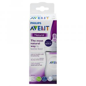 Philips Avent Natural Baby Bottle, Clear
