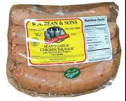 W.A. Bean & Sons Chicken Sausage w/Roasted Red Peppers