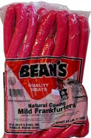 Bean's Mild Franks
