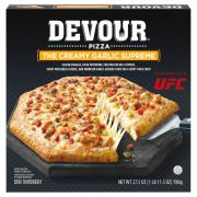 Devour The Creamy Garlic Supreme Pizza