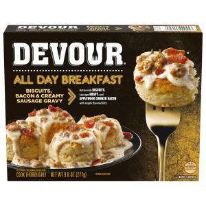 Devour All Day Breakfast Biscuits, Bacon & Sausage Gravy
