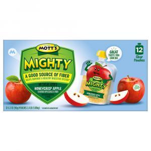 Mott's Mighty No Sugar Added Honeycrisp Applesauce
