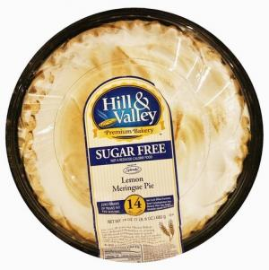 "Hill & Valley Sugar Free 8"" Lemon Meringue Pie"