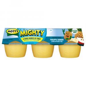 Mott's Mighty No Sugar Added Pineapple Banana Applesauce