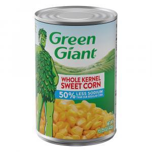 Green Giant 50% Less Sodium Whole Kernel Corn