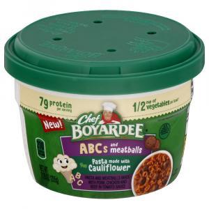 Chef Boyardee Veggie ABCs Pasta with Meatballs