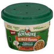 Chef Boyardee Rings with Vegetables in Sauce