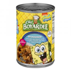 Chef Boyardee Spongebob With Meatballs