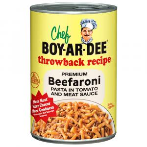 Chef Boyardee Throwback Recipe Beefaroni Pasta in Tomato and