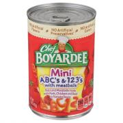 Chef Boyardee ABC's & 123's w/Meat Sauce
