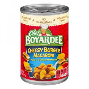 Chef Boyardee Cheesy Burger Macaroni