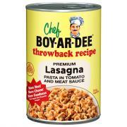 Chef Boyardee Throwback Recipe Lasagna Pasta in Tomato and