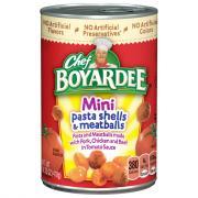 Chef Boyardee Shells & Meatballs Minibites